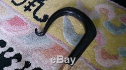 Tall Sturdy Walking Stick Hand Carved from Buffalo Horn Shepherds Crook