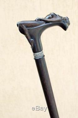 Unique Hand Carved Wooden Walking Stick Canes for Men Nymph Fancy Wood Cane