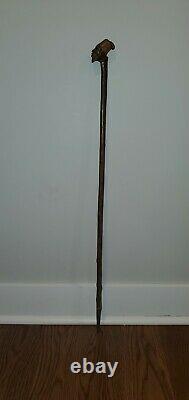 Vintage African Carved Wooded Cane/Walking Stick