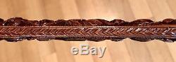 Vintage Antique 19C Carved Wood Walking Stick Cane Old 12Handle Excellent