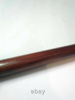 Vintage Antique Gold Filled Top Carved Wood Swagger Knob Walking Stick Cane Old