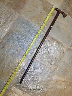 Vintage Cane Walking Stick With Hand Carved Eagle & Tomahawk Handle & Shaft @34