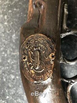 Vintage Custom Hand Carved Pistol Walking Stick