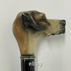 Vintage walking stick cane x 3 Collection Dog Brass Carved Umbrella Novelty