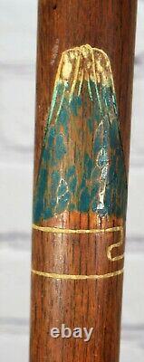 Vnt Gadget Cane Concealed Pool Cue Stick WW2 Hand Carved Wood Japan Korea Unique