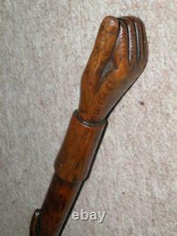 WW1 Original Hand-Carved Hand & Snake'Prisoner Of War' Walking Stick/Cane