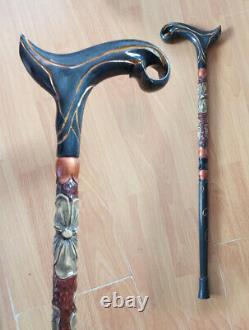 Walking cane for women Walking cane stick Hand carved walking stick Hiking stick