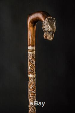 Walking canes for men Walking Stick Fox Walking cane Hand Carved