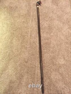 Welsh Handcrafted Carved Cock Pheasant Head Handle Walking Stick